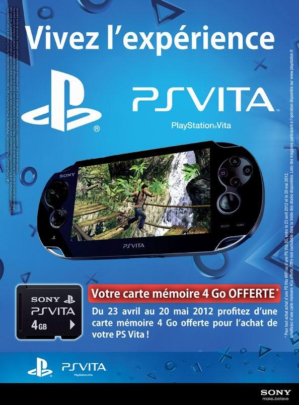 Carte Memoire Ps Vita Boulanger.Sony Offre Une Carte 4 Go Pour L Achat D Une Ps Vita